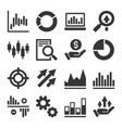 stock market trading icons set vector image