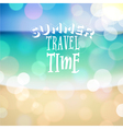 Summer travel time Poster on tropical beach backgr vector image vector image