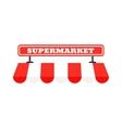 Supermarket signboard vector image