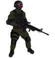 SWAT team member AR15 green vector image vector image
