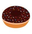 sweet chocolate donut vector image