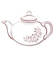 teapot pictogram vector image