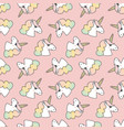 unicorns seamless pattern background vector image vector image