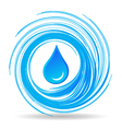 Water drop and waves vector image vector image