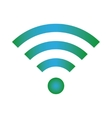Wifi icon blue green color vector image