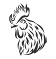 with black rooster head vector image vector image