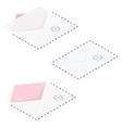 Envelopes detailed isometric icon set vector image