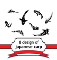 8 japanese fish of carp for design vector image vector image