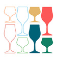 Alcoholic Glass Silhouette Silhoutte vector image vector image