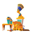 ancient egypt cartoon set vector image vector image
