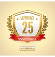 Anniversary label shield vector image