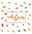 autumn harvest and thanksgiving day poster design vector image vector image