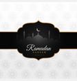 awesome arabic ramadan kareem festival greeting vector image vector image