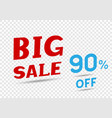 big sale text message vector image vector image