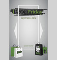 black friday bestsellers 3d web banner vector image