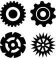 Black gears vector image vector image