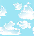 blue seamless pattern clouds vector image