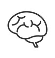 brain human organ related outline icon vector image vector image