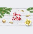buon natale italian merry christmas holiday vector image vector image