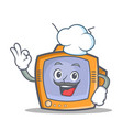 chef tv character cartoon object vector image vector image