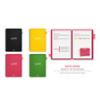 colorful note books realistic 3d detailed vector image