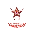 cookies star cheerful christmas card vector image vector image