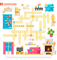 crossword with huge set and vector image vector image
