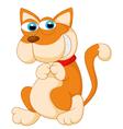 Cute baby cat posing vector image vector image