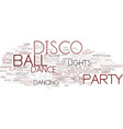disco word cloud concept vector image