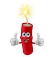 dynamite or firecracker man vector image vector image