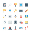 Electronics Colored Icons 4 vector image vector image