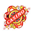 emblem gambling casinos vector image vector image