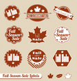 Fall Seasonal Sale Label Set vector image vector image