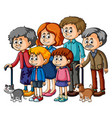 family members with parents and kids vector image
