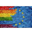 Flags Of Gay Pride And The Europe connected vector image vector image