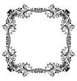 floral decorative frame black ornament vector image vector image