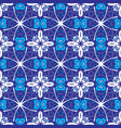 geometric seamless blue mosaic background vector image vector image
