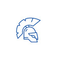 greece helmet line icon concept greece helmet vector image