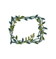 green leaves frame natural decorative element can vector image vector image