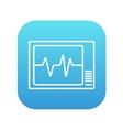 Heart monitor line icon vector image