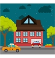 Home landscape cartoon graphic vector image vector image