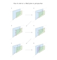 How to mirror a tilted plane in perspective vector image vector image