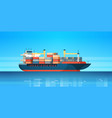 industrial sea cargo logistics container import vector image