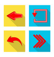 isolated object element and arrow logo set