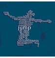 Jumping people silhouette made with words vector image