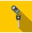 Key with remote control flat icon vector image