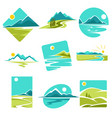 Landscape isolated icons corporate identity