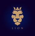 lion face logotype heraldic premium logo icon vector image