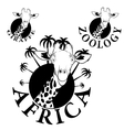 logos with the image of a giraffe vector image vector image