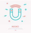 magnet thin line icon vector image